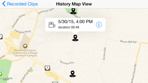 CamCarDer History Map View
